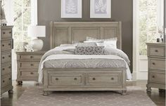 A classic addition to your transitional bedroom will be the Cumberland Collection. Traditional accents such as, the bun foot that supports each piece and rich antique gray finish on birch veneer, and selected hardwood blend with framing and lines that Bedroom Furniture Sets, Bedroom Sets, Bedrooms, Bedroom Decor, Orange County, Relaxing Master Bedroom, Cal King Size, Transitional Bedroom, Queen Size Bedding