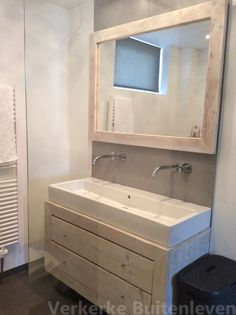 Steigerhout badkamermeubel Lennard - Verkerke Buitenleven