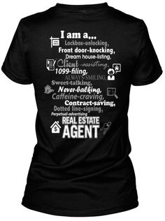 I am a Real Estate Agent T-Shirt Christine Lovett ~ Realtor Serving Hemet, Murrieta, and Temecula, CA ~ 951.660.8249 ~ www.LovettORListIt.com
