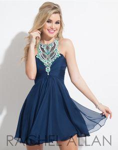 Rachel Allan 4078 Navy Homecoming Dress