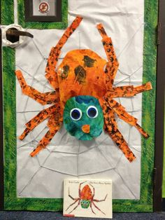 Great idea for Open House - your classroom door can be the cover of a children's book. Our theme was Eric Carle books.