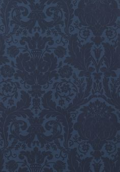 Beautiful unless it is too dark Thibaut--DREXEL, Navy, T7625, Collection Damask Resource 3 from Thibaut