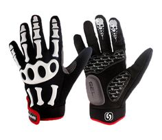 Wonzone Skull Cycling Gloves Mountain Bike Gloves Road Racing Bicycle Gloves Light Silicone Gel Pad Riding Gloves Full Finger Gloves Men/Women Work Gloves(Black XXL). Please attention: the size is measured by circumference.Specially designed to provide comfortable compression and support for all sports lovers.The gloves are made of microfiber leather, hard-wearing and great fit.The most special point is Touch recognition and Tailor in three dimensional.It easy to use in touch your...