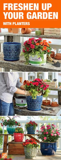 Freshen up your garden with our wide selection of planters, like hanging baskets, planter urns, planter barrels and window boxes. You can even make a container garden using these vessels or space- saving vertical wall planters. We offer a huge selection of planters in different colors and sizes so you're able to show off your style and creativity. Click to shop the selection.