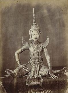 Dancer in Siam/Thailand, 1874