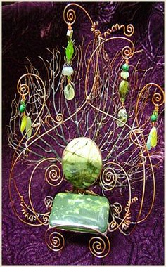 A beautiful fairy chair. Hit garage sales or cheap thrift shops for junk jewelry…
