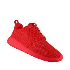 8edcdecf5d4d Nike Roshe Run All-Red iD for the boyfrannn Red Roshes Nike