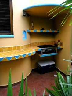Great colors for the use of Mexican tiles...