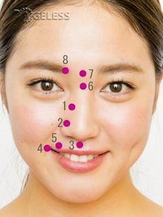 Волшебные точки для подтяжки щек
