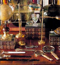 Magnifying Glasses I use in decorating.... have many and enjoy collecting them
