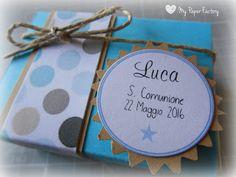 My Paper Factory: COMUNIONE: porta confetti per maschietto!
