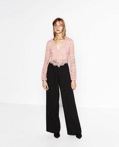 Imagem 1 de TOP CROPPED RENDA da Zara