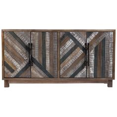 Shop for Wanderloot Trudeau Deco Hand Painted Grey Sustainable Solid Mango Sideboard with 4 Doors. Get free delivery at Overstock.com - Your Online Furniture Store! Get 5% in rewards with Club O! - 21500665