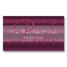 Pink Hair Salon Stylist Beautician Business Cards