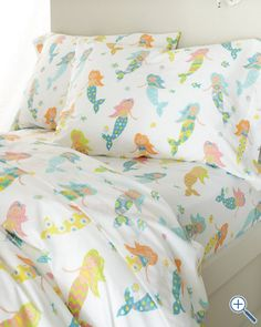Mermaid Percale Bedding - Twin! $29!!! Somebody buy this!!