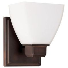 Capital Lighting C8511BB216 Vanities 1 Bulb Wall Sconce - Burnished Bronze
