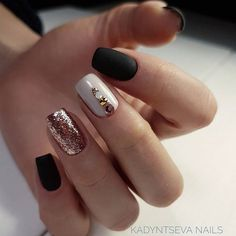 What manicure for what kind of nails? - My Nails Simple Elegant Nails, Simple Nails, Elegant Nail Art, Diy Nails, Cute Nails, Pretty Nails, Square Nail Designs, Nail Art Designs, Nails Design