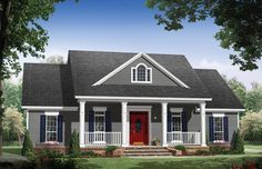 Country House Plan with 1653 Square Feet and 3 Bedrooms from Dream Home Source | House Plan Code DHSW076708