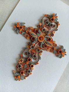 Quilling cross,handmade.quilling,quilling art,paper collage,holy cross,art paper…