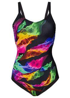 6a4998c490 Costum de baie modelator • negru multicolor • bonprix magazin Siluety