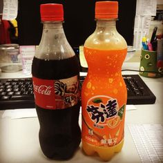 My supports today !! Coca Cola soda drinks, buy two and the second one only cost 10 NT dollars !! #officelife #officetime # office small indeed fortunate # # Cola Fanta orange soda #cocacola #fanta #coke # see Coke think of whiskey