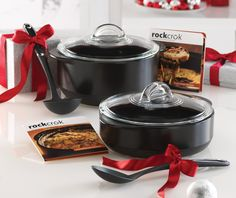 "For The Foodie: A ""Pin It To Gift It"" exclusive gift set: Our new Rockcrok™ Everyday Pan and Rockcrok™ Dutch Oven, bundled with The Pampered Chef® Cooking Tools Ladle and The Pampered Chef® Cooking Tools Spoon."