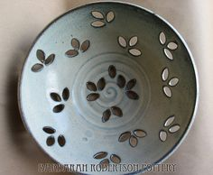 What a great idea to have shaped drainage holes!  Barbarah Robertson - Fruit Bowl