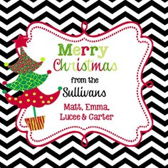 Christmas Stickers Labels  or  gift enclosure cards by stickerchic