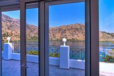 Spacious Getaway by Lake Kournas Lake View, Villa, Construction, City, Building, Cities, Fork, Villas