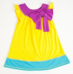 Color Block Dress with Hanging Bow - Vanilla Creme - Events