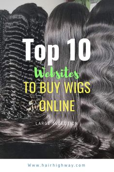 Top Places online to find affordable wigs and lace fronts online.