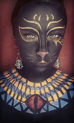 Bastet Goddess. Egyptian feline.