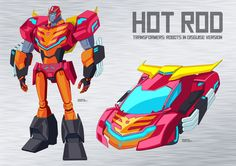 Transformers: Robots in Disguise (2015) Hot Rod by RodimusZero