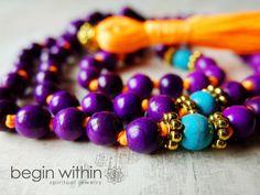 Neon Mala Beads by BeginWithinJewelry on Etsy