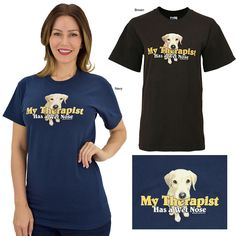 Wet Nose Therapy Dog T-Shirt at The Animal Rescue Site