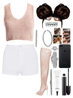 """Cute"" by n-filer ❤ liked on Polyvore featuring Topshop, Le Silla, Sans Souci, Michael Kors, MAC Cosmetics, Rolex, Mark Broumand and King Ice"