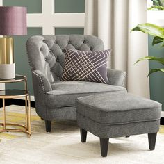 By Willa Arlo Interiors. Heywood Armchair and Ottoman. Add a traditional touch to your living room ensemble with this sleek club chair. Plus, a matching ottoman is also included! Ottoman Included Yes. Living Room Furniture, Living Room Decor, Accent Furniture, Furniture Decor, Library Furniture, Paint Furniture, Furniture Sale, Dining Room, Gris Rose