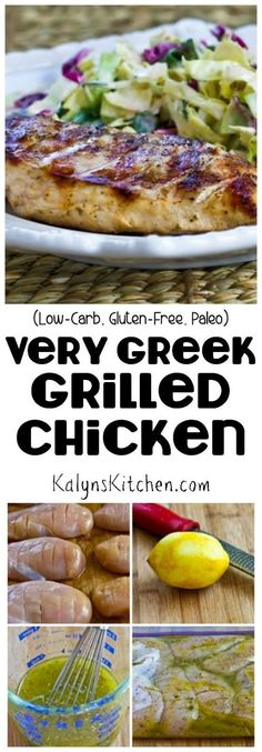 This delicious and low-carb Very Greek Grilled Chicken is the top recipe on my blog most weeks, with over a million pins! I've made this delicious chicken over and over for guests or just for an easy dinner. [found on KalynsKitchen.com]