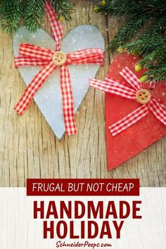 There is a huge difference between being frugal and cheap. Learn what the difference is so you can have a frugal handmade Christmas instead of a cheap one. #giftgiving #handmadeChristmas