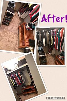 After pics of a really good wardrobe declutter 😊