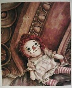 """Watercolor painting, """"Raggedy Ann"""""""