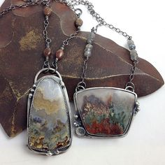 I love the cut on these stones Prudent Man Agate Sterling Vine Pendants Agate Jewelry, Metal Jewelry, Pendant Jewelry, Jewelry Art, Silver Jewelry, Jewelry Accessories, Jewelry Necklaces, Jewelry Design, Unique Jewelry