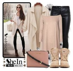 """shein"" by eernaa ❤ liked on Polyvore featuring Balenciaga, Glamorous, Balmain and MICHAEL Michael Kors"