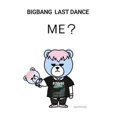 Bigbang Krunk, Gd Bigbang, Last Dance, Seoul, Bangs, Fanart, Kawaii, Icons, Bear