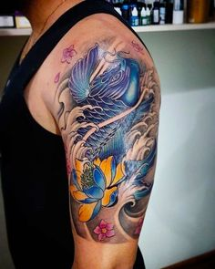 Top 50 Tattoos with Meaning - Refine Your Image Koi Fish Tattoo Forearm, Pez Koi Tattoo, Koi Fish Tattoo Meaning, Koi Tattoo Sleeve, Best Sleeve Tattoos, Tattoos With Meaning, Body Art Tattoos, Fish Tattoos, Tatto Koi