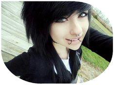I got: Emo! Are you a Goth, Emo, Punk, or Normal? Black Scene Hair, Emo Scene Hair, Emo Hair, Black Hair, Emo Piercings, Cute Scene Girls, Cute Emo Girls, Goth Girls, Emo Bangs
