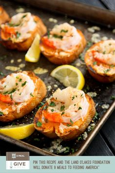 Sriracha Garlic Toasts with Shrimp » a farm girl's dabbles #giveameal Repin and 9 Meals Will Be Donated to Feeding America until May 31, 2014.