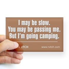 Shop RV Itch I'm Going Camping Sticker (Rectangle) designed by PopUp Explorer.