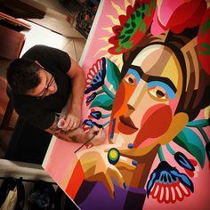 FRIDA Graffiti, Fair Grounds, 112, Illustration, Instagram, Paintings, Abstract Art, Art Production, Frida Kahlo