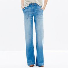 <b>Risk-Free Jeans: Free shipping and returns on all jeans, all the time. </b>Inspired by traditional workwear, these wide-leg jeans have lots of old-school details, like oversized patch pockets and a perfectly worn-in finish. Made of best-of-the-best denim, these are destined to be your new favorites. <ul><li>Premium supersoft 60% cotton/40% lyocell denim from Turkish mill Orta.</li><li>Faded indigo wash and subtle hand distressing.</li><li>Oversized patch pockets.</li><li>Copper…